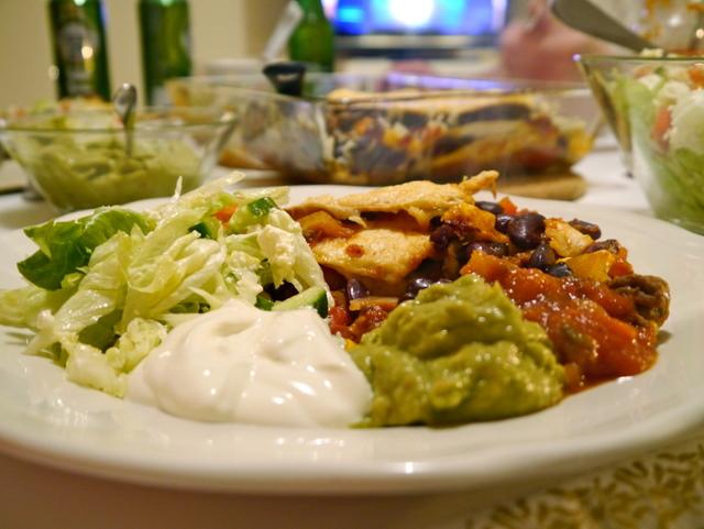 Meksikansk lasagne i riktige tex-mex-ånden